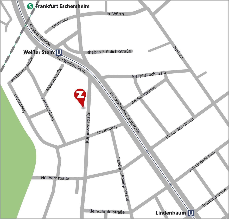 zplusz - Anfahrt Kurhessenstrasse